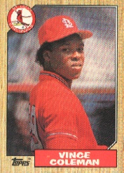 1987 Topps Baseball Cards      590     Vince Coleman
