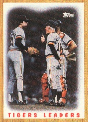 1987 Topps Baseball Cards      631     Tigers Team#{(Mound conference)