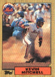 1987 Topps Baseball Cards      653     Kevin Mitchell RC *