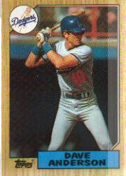1987 Topps Baseball Cards      073      Dave Anderson