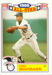 1987 Topps Glossy All-Stars Baseball Cards     014      Lou Whitaker