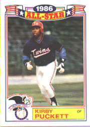 1987 Topps Glossy All-Stars Baseball Cards     019      Kirby Puckett