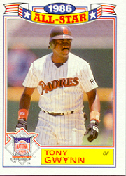1987 Topps Glossy All-Stars Baseball Cards     006      Tony Gwynn