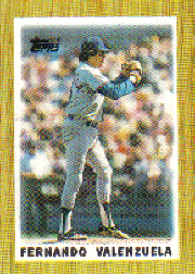 1987 Topps Mini Leaders Baseball Cards 016      Fernando Valenzuela