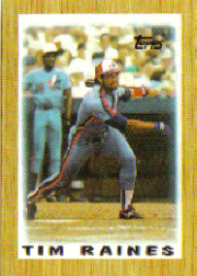 1987 Topps Mini Leaders Baseball Cards 017      Tim Raines