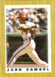 1987 Topps Mini Leaders Baseball Cards 029      Juan Samuel