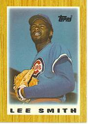1987 Topps Mini Leaders Baseball Cards 003      Lee Smith