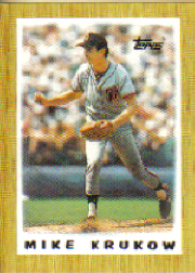 1987 Topps Mini Leaders Baseball Cards 036      Mike Krukow