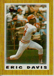 1987 Topps Mini Leaders Baseball Cards 004      Eric Davis