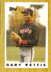 1987 Topps Mini Leaders Baseball Cards 047      Gary Pettis