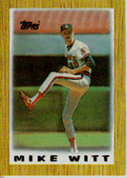 1987 Topps Mini Leaders Baseball Cards 048      Mike Witt