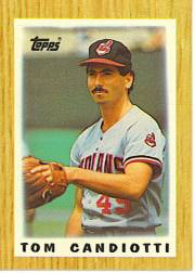1987 Topps Mini Leaders Baseball Cards 050      Tom Candiotti