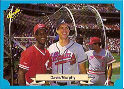 1988 Classic Blue Baseball Cards       201     Eric Davis and#{Dale Murphy