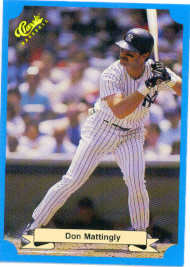 1988 Classic Blue Baseball Cards       211     Don Mattingly
