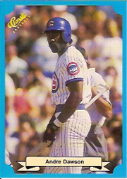 1988 Classic Blue Baseball Cards       216     Andre Dawson
