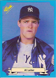 1988 Classic Blue Baseball Cards       238     Al Leiter