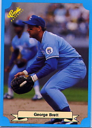 1988 Classic Blue Baseball Cards       248     George Brett