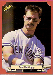1988 Classic Red Baseball Cards        152     Don Mattingly