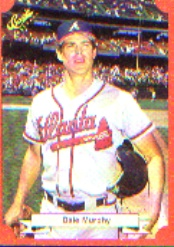 1988 Classic Red Baseball Cards        156     Dale Murphy