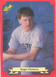 1988 Classic Red Baseball Cards        158     Roger Clemens