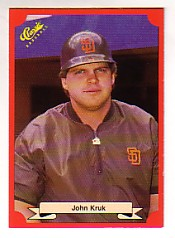 1988 Classic Red Baseball Cards        162     John Kruk