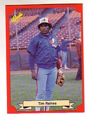 1988 Classic Red Baseball Cards        168     Tim Raines