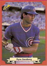 1988 Classic Red Baseball Cards        169     Ryne Sandberg