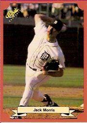 1988 Classic Red Baseball Cards        174     Jack Morris
