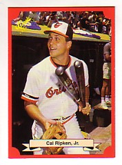 1988 Classic Red Baseball Cards        176     Cal Ripken