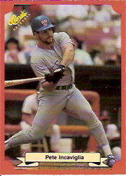 1988 Classic Red Baseball Cards        177     Pete Incaviglia