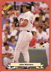 1988 Classic Red Baseball Cards        189     John Marzano