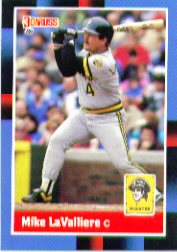 1988 Donruss Baseball Cards    312     Mike LaValliere