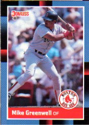 1988 Donruss Baseball Cards    339     Mike Greenwell