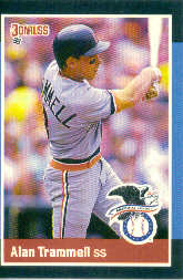 1988 Donruss All-Stars Baseball Cards  022      Alan Trammell