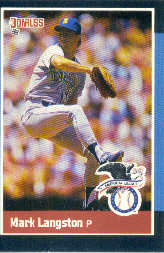 1988 Donruss All-Stars Baseball Cards  026      Mark Langston