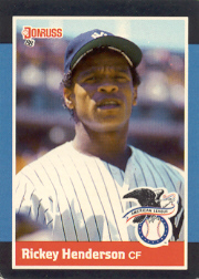 1988 Donruss All-Stars Baseball Cards  004      Rickey Henderson