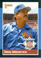 1988 Donruss All-Stars Baseball Cards  042      Davey Johnson MG