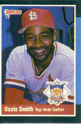 1988 Donruss All-Stars Baseball Cards  063      Ozzie Smith#{(Top NL Vote Getter)