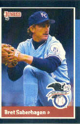1988 Donruss All-Stars Baseball Cards  008      Bret Saberhagen