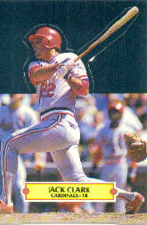 1988 Donruss Pop-Ups Baseball Cards    011      Jack Clark