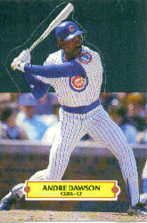 1988 Donruss Pop-Ups Baseball Cards    014      Andre Dawson