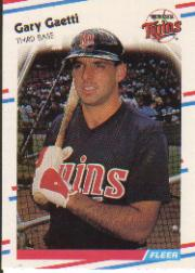 1988 Fleer Baseball Cards      010      Gary Gaetti