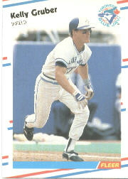 1988 Fleer Baseball Cards      111     Kelly Gruber
