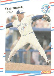 1988 Fleer Baseball Cards      112     Tom Henke