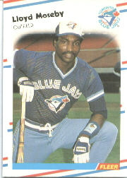 1988 Fleer Baseball Cards      119     Lloyd Moseby