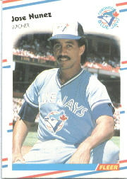 1988 Fleer Baseball Cards      122     Jose Nunez