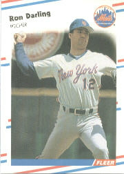 1988 Fleer Baseball Cards      132     Ron Darling