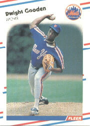 1988 Fleer Baseball Cards      135     Dwight Gooden