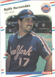 1988 Fleer Baseball Cards      136     Keith Hernandez