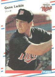 1988 Fleer Baseball Cards      014      Gene Larkin RC*
